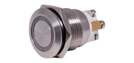 SPST IP65 Vandal Resistant Illum. Blue Pushbutton Switch