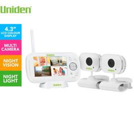 Uniden BW3102 Digital Wireless Baby Video Monitor + 2 Cameras