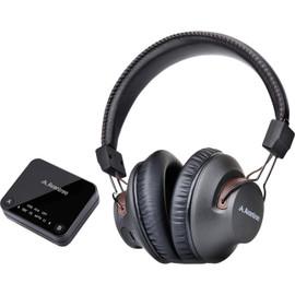 HT4189BLK WIRELESS HEADPHONE FOR TV W/ TRANSMITTER 30M LONG RANGE