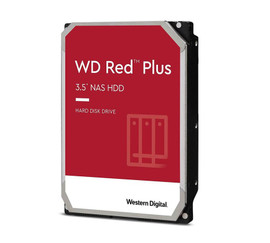 "Western Digital WD Red Plus 12TB 3.5"" NAS HDD SATA3 7200RPM 256MB Cache 24x7 NASware 3.0 CMR Tech"