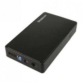 "Simplecom SE325 Tool Free 3.5"" SATA HDD to USB 3.0 Hard Drive Enclosure - Black Enclosure"