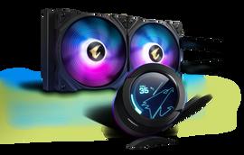 Gigabyte AORUS WATERFORCE X 280 All-in-one Liquid Cooler, Intel 2066, 2011,1366,115x,1700, AMD TR4, AM4, sTRX4