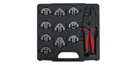 10 Jaw Magnetic Ratchet Universal Crimp tool Kit