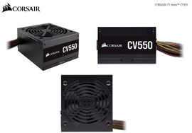 Corsair 550W CV Series CV550, 80 PLUS Bronze Certified, Compact design, ATX Power Supply