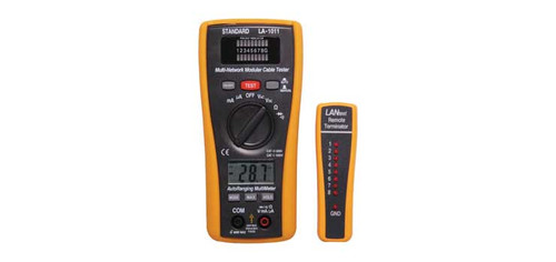 Combination DMM & LAN Cable Tester