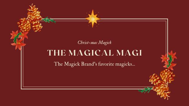 Magickal Holiday Gift  Guide...