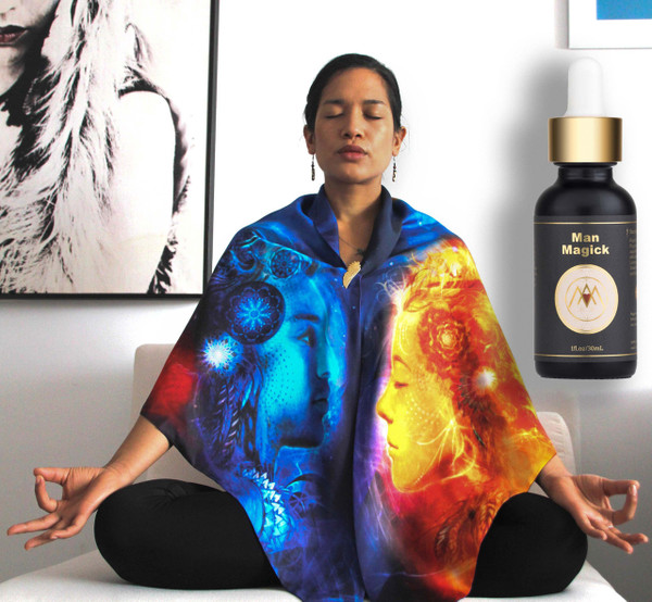 EXCLUSIVE Prasamana Luxury Meditation Wool Wrap & Choice of Magick Elixir