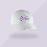 Better Together Signature Hat - White w Purple Cloud - Front