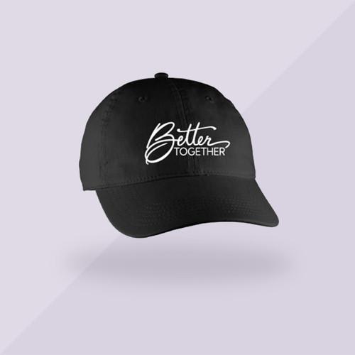 Better Together Signature Hat - Black - Front