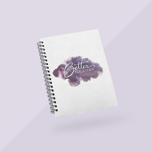 Better Together Signature Journal - White w Purple Cloud