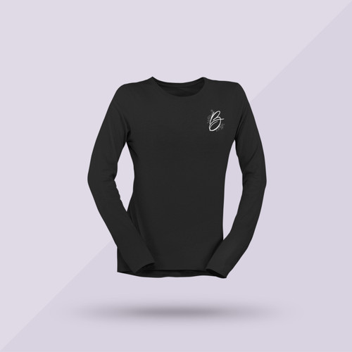 Better Together Signature Long-Sleeve Tee - Black - Front