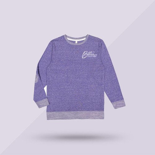 Better Together Signature Sweatshirt - Purple - Front