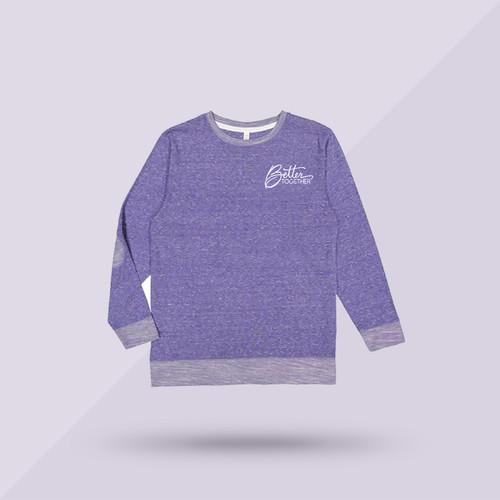 Better Together Signature Sweatshirt - Purple - Front