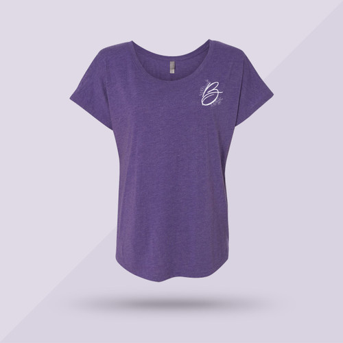 Classic Better Together Dolman Tee - Purple - Front