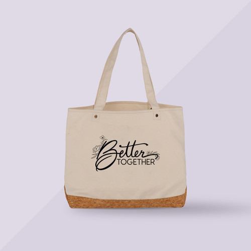 Better Together Premium Shopper Tote - Beige - Front