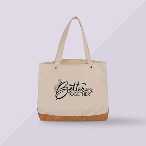 Better Together Premium Shopper Tote - Beige - Front