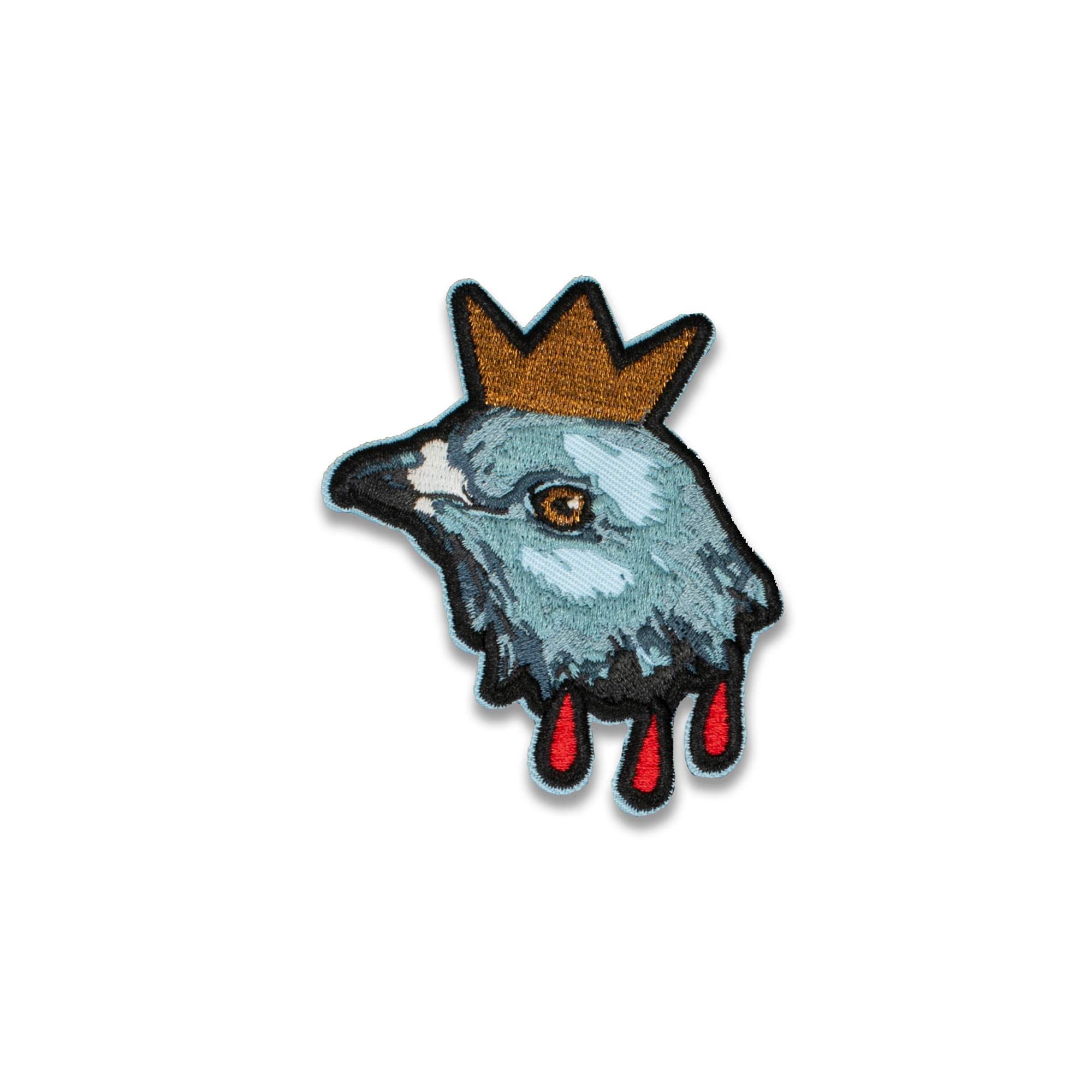 Hereditary Inspired Pigeon King Paimon Embroidered Patch at Bad Attitude Dept