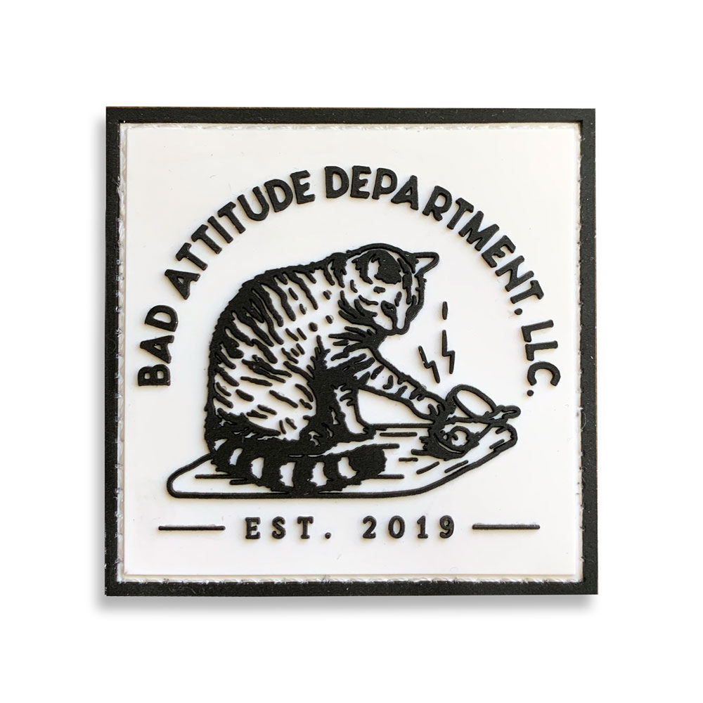 Bad Kitty PVC Patch with Hook & Loop Backing By Bad Attitude Department