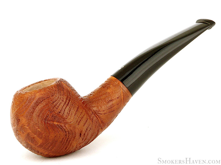 Italian Estate Pipe Luciano #56 Strawberry Wood Goup 3 Ring Blast Apple Unsmoked Estate