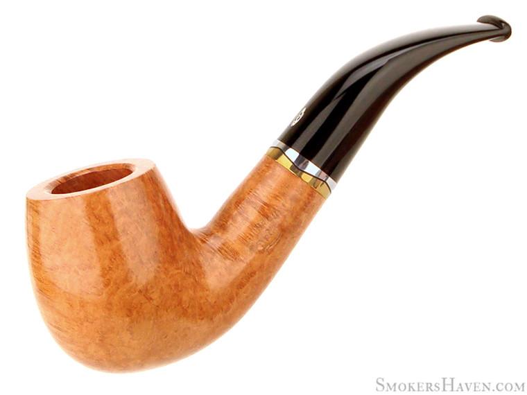 Savinelli Estate Pipe Onda 616 KS 1/2 Bent Smooth Natural Billiard UNSMOKED