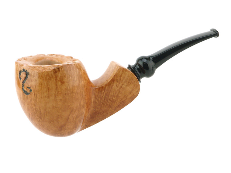 Buckeye Pipe Natural Smooth Speeding Pear w/ Spot Carving