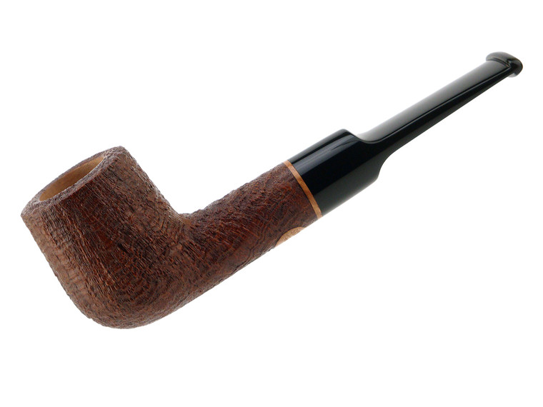 Scott's Pipes Pipe Handcrafted Brown Blast Saddle Billiard