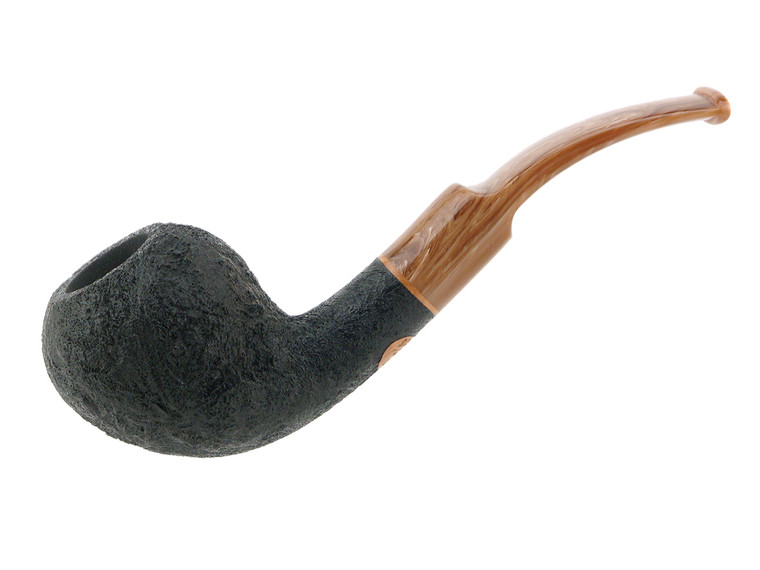 Scott's Pipes Pipe Handcrafted Black Blast Bent Pear