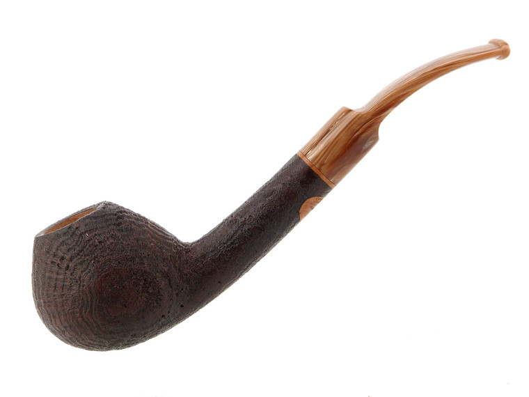 Scott's Pipes Pipe Handcrafted Brown Blast Long Shank Bent Brandy