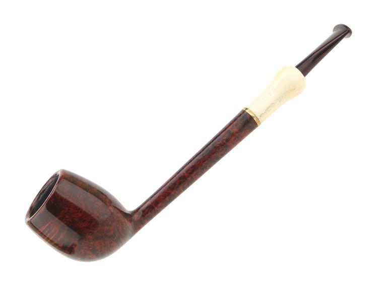 Wojtek Pastuch Pipe Smooth Pencil Shank w/ Bronze Ring & Warthog Tusk