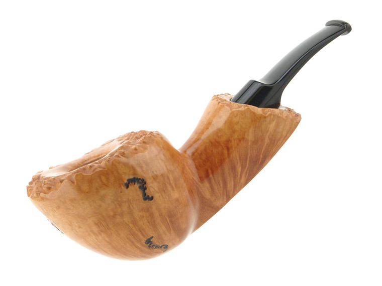 Buckeye Pipe Smooth w/ Carving The Scioto Foilage