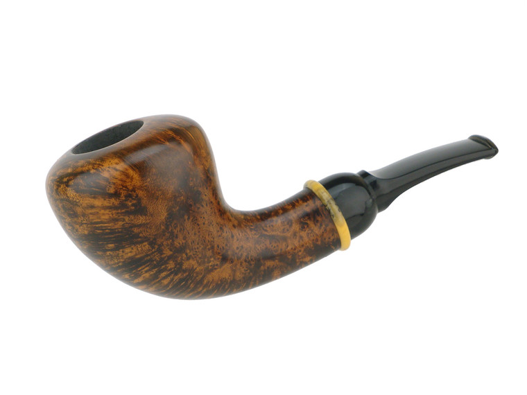 American Estate Pipe BriarWorks Neptune Smooth Pear w/ Faux Horn Unsmoked