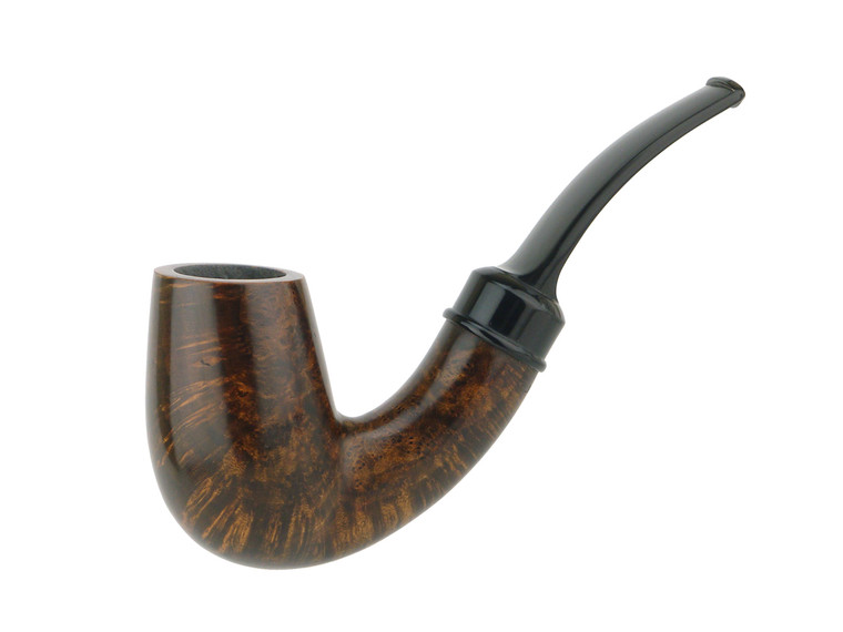 American Estate Pipe BriarWorks Neptune Bent Smooth Champagne Unsmoked .