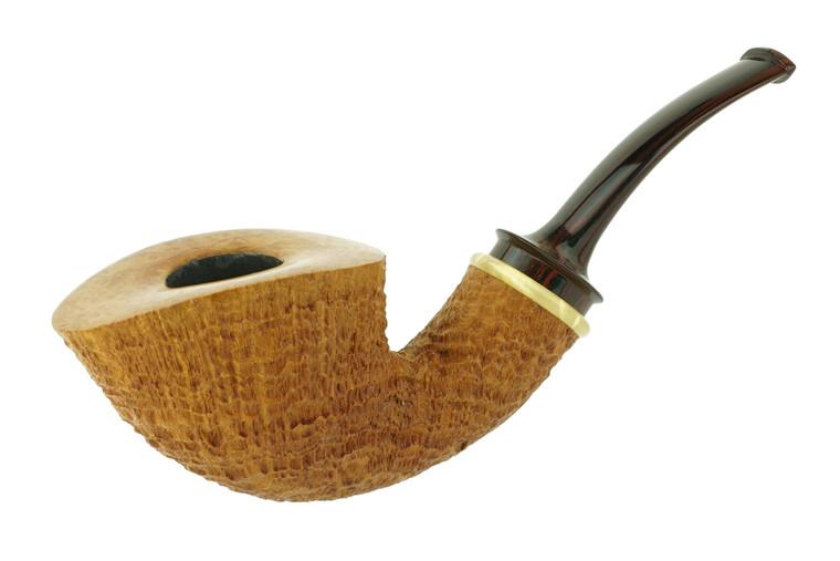 Matt Roussell Pipe Bent Dublin Tan Blast w/ Bakelite Ring