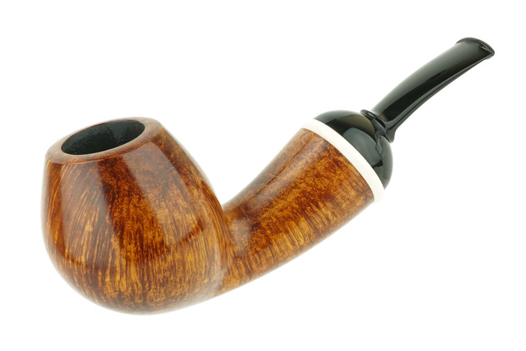 Matt Roussell Pipe Bent Brandy Smooth w/ Faux Ivory