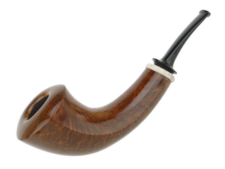 American Estate Pipe Thomas James XL Horn w/ Antler Ring Unsmoked