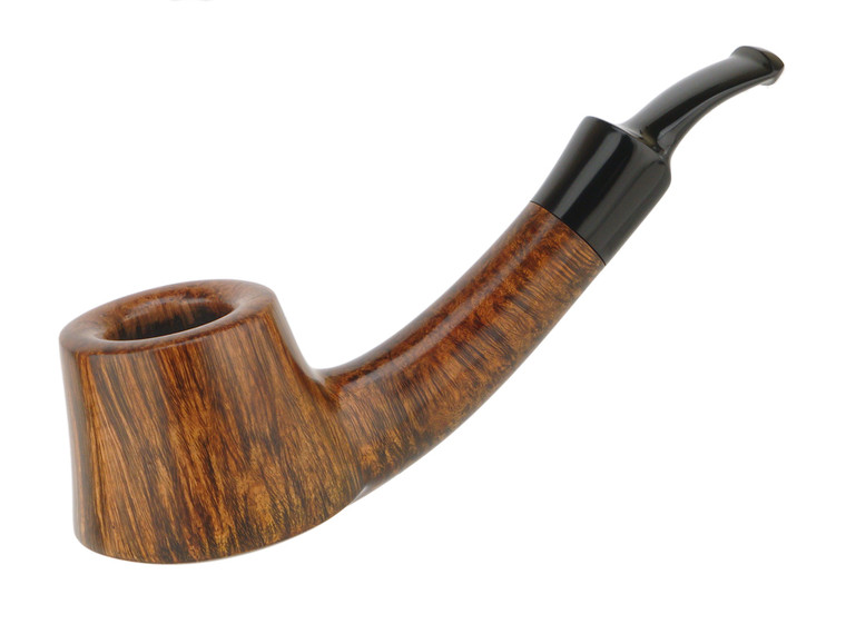 American Estate Pipe Clark Layton Long shank Bent Straight Grain Volcano