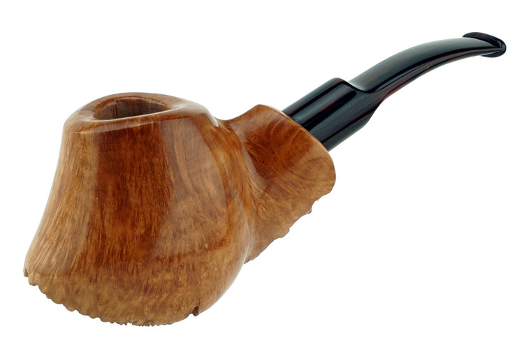 Buckeye Pipe Smooth w/ Carving Bison