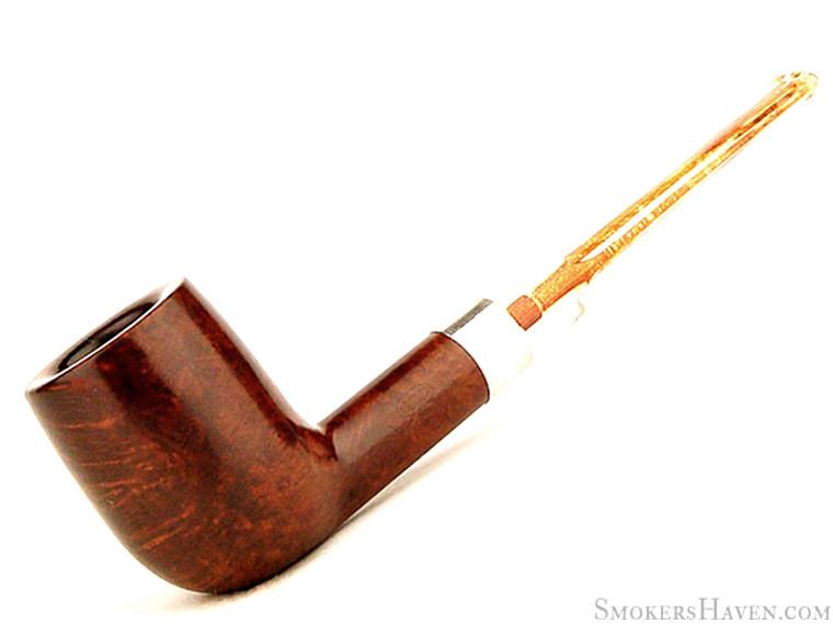 GBD Estate Pipe Virgin 9435 Smooth Billiard Sitter Repair Band & Replacement stem (1960's)