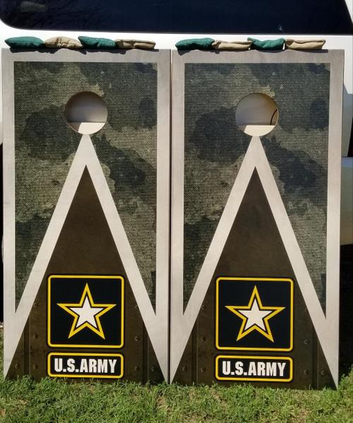 Military Army  - Regulation size cornhole boards.