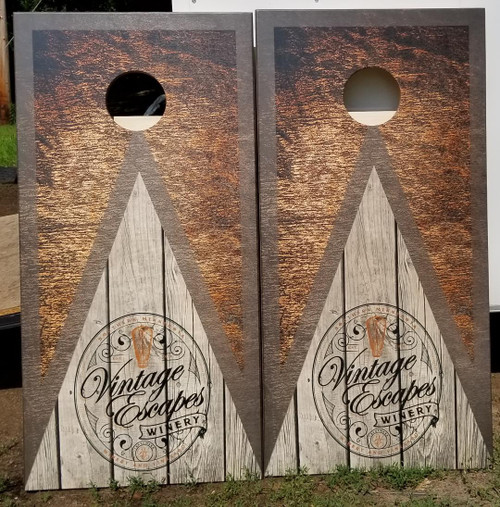 Your Business Design  #10, custom with your business  logo- Regulation size cornhole boards. Bags sold separately