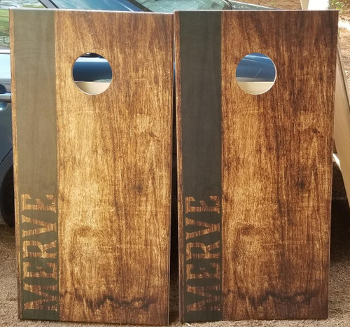 Family Design #8, Custom with your name-Regulation size cornhole boards.