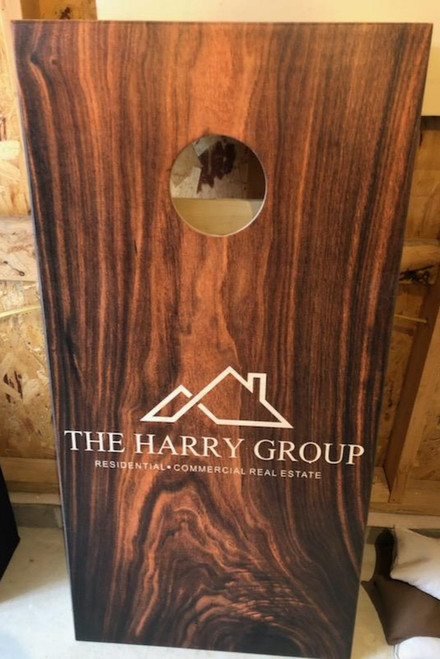 Your Business Design #13, custom with your business logo - Regulation size cornhole boards.