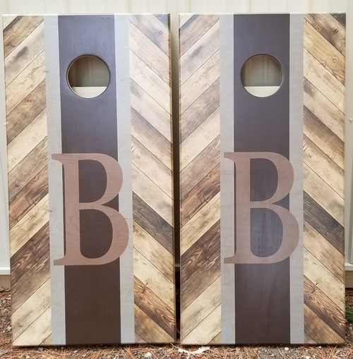 Family Design #17,  Custom with your name-Regulation size cornhole boards.
