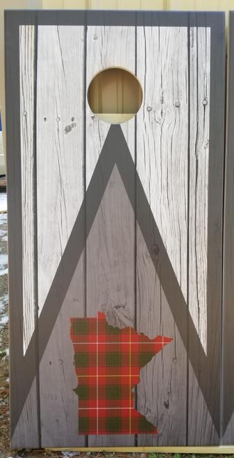 State plaid  (green/red)  Cornhole Boards -Regulation size cornhole boards.