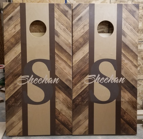 Family Design #21,  Custom with your name-Regulation size cornhole boards.