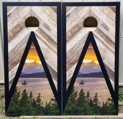 Family Design #23, Custom with your picture -Regulation size cornhole boards.