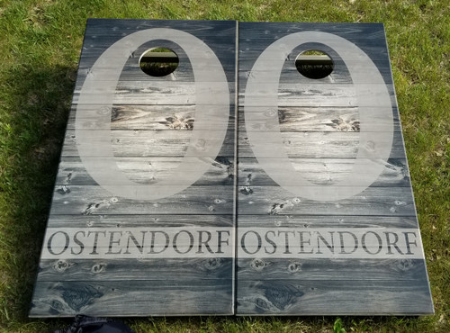 Family Design #26, Custom with your name -Regulation size cornhole boards.