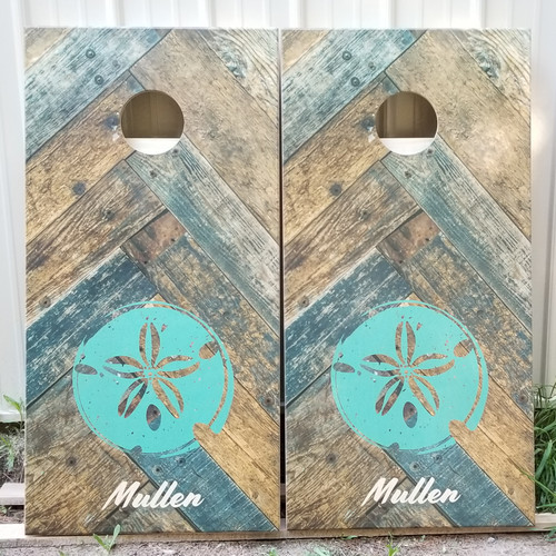 Family Design #31, Custom with your name -Regulation size cornhole boards.