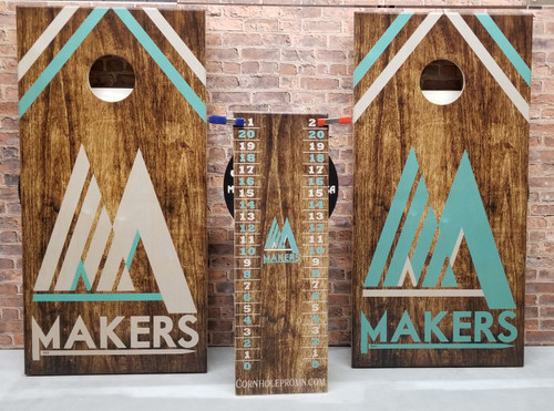 Your Business Design #24, custom with your business logo - Regulation size cornhole boards.