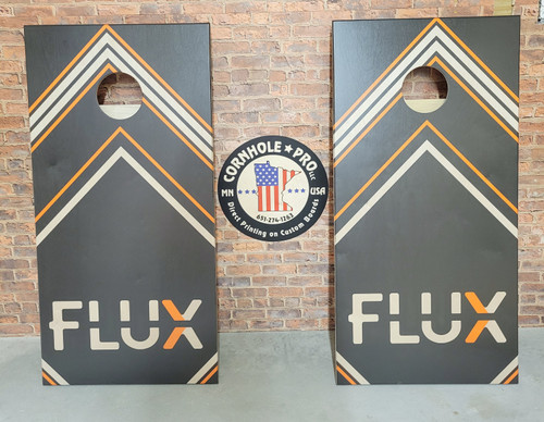 Your Business Design #25, custom with your business logo - Regulation size cornhole boards.